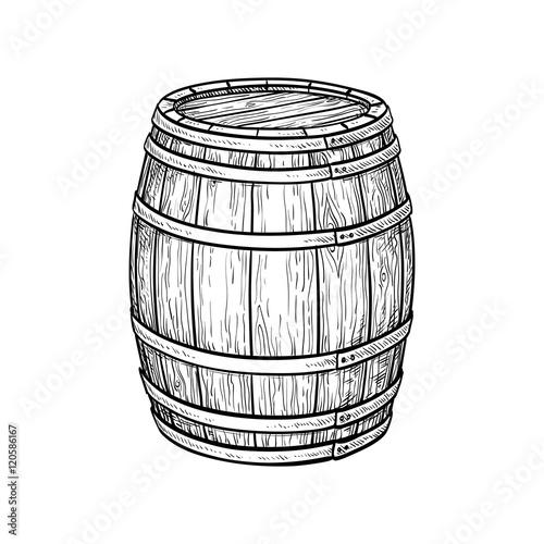 Wine or beer barrel Canvas Print