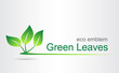 Green leaves. Eco icon.