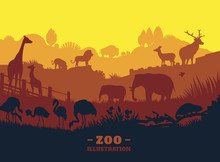 Zoo World Illustration Backgro...