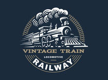 Locomotive Logo Illustration, ...