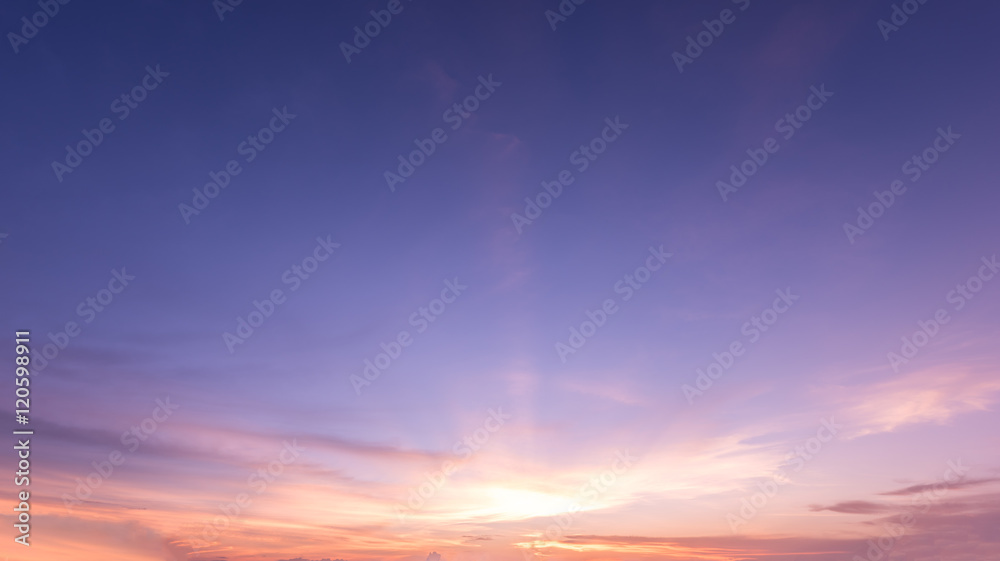 Fototapety, obrazy: panorama sunset sky background