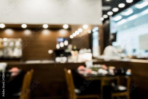 Zdjęcie XXL Abstrakcjonistyczna plama sklep z kawą lub cukierniany restauracyjny wnętrze