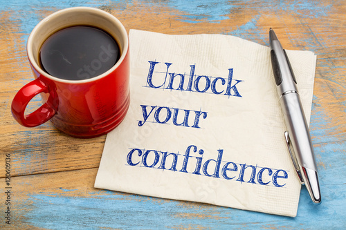 Fotomural Unlock your confidence advice