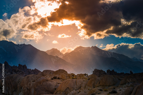 La pose en embrasure Colline Alabama Hills California Landscape
