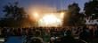 On rock concert. Light show