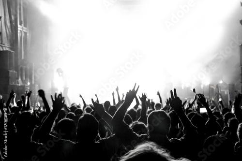 Valokuvatapetti On rock concert. Light show