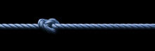 Blue Rope With Knot Background Banner