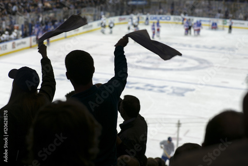 Cheering crowd at a hockey game, Madison Square Garden, Manhattan, New York City Wallpaper Mural