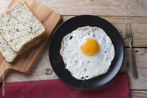 Foto op Plexiglas Gebakken Eieren Eggs fried