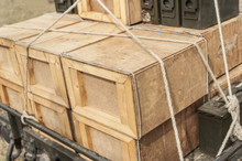 A Stack Of Wooden Crates Full ...
