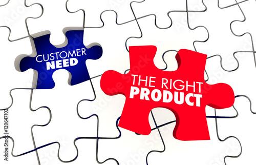 Fotografía  Customer Need Best Right Product Puzzle 3d Illustration