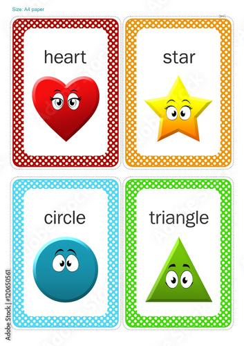 photograph regarding Printable Shape Flash Cards identify Printable Child Form Flash card, Middle, Star, Circle