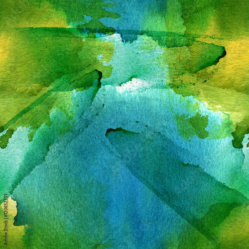 Cotton fabric Seamless artistic blue and green background texture, abstract wa