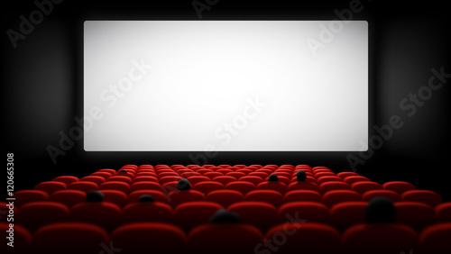 Salle de cinéma vectorielle 3 Canvas Print