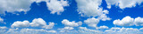 Fototapeta Na sufit - high resolution panoramic sky background with white Cirrocumulus clouds