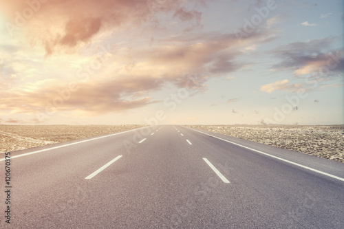 Fotografie, Tablou Endless Asphalt Road