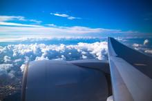 飛行機と景色