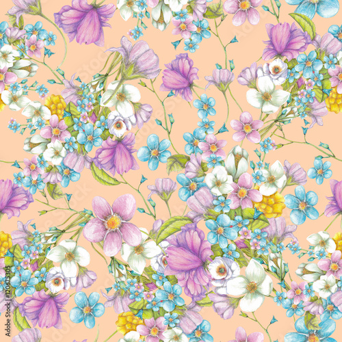 bezszwowy-wzor-lato-kwiaty