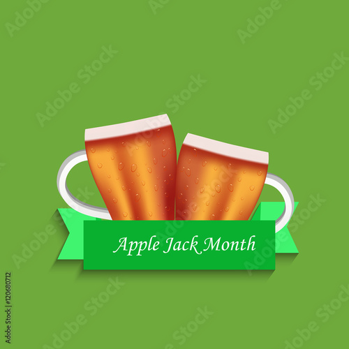 Illustration of Apple Juice for Applejack Month Canvas Print