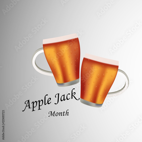 Photo  Illustration of Apple Juice for Applejack Month
