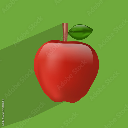 Illustration of Apples filled in a basket for Applejack Month Canvas Print