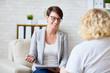 Leinwandbild Motiv Talking to patient