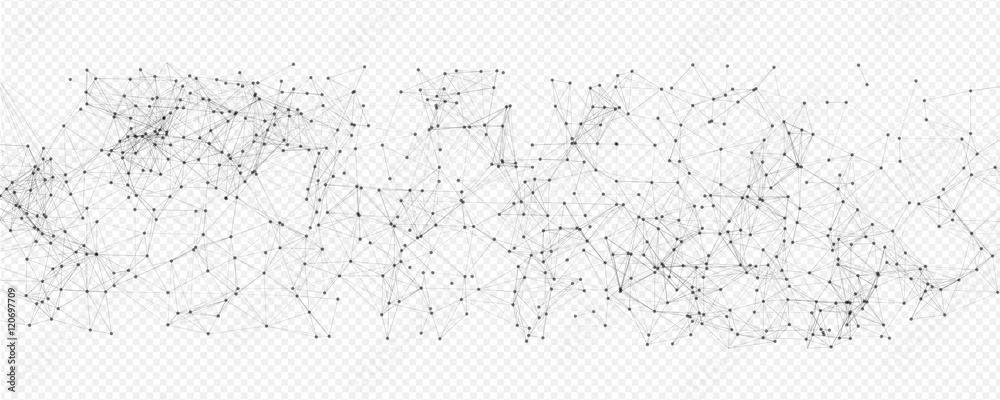 Fototapety, obrazy: Abstract Black Mesh on Transparent Background | EPS10 Vector Design