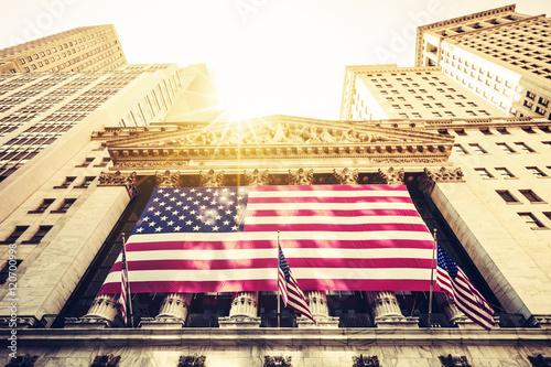 Plakat Wejście na Wall Street New York Stock Exchange