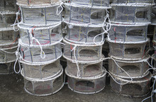 A Stack Of Traps For Catching Fish And Shrimp