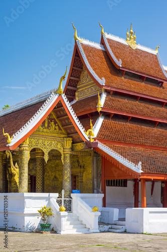 Deurstickers Bedehuis Wat Mai Suwannaphumaham buddhist temple, Luang Prabang, Louangphabang Province, Laos