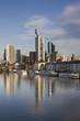 Germany, Hessen, Frankfurt-am-Main, City View along Main River
