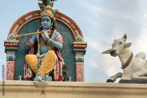 Photo  Hinduism statue of Sri Mariamman temple in Singapore