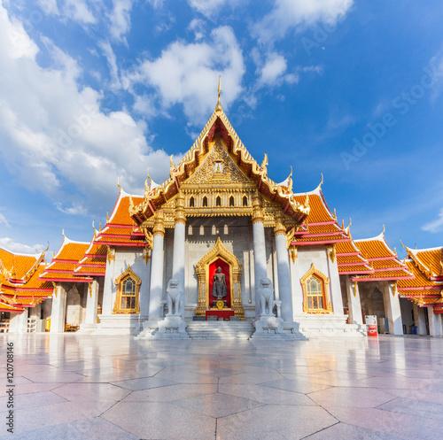 Marble Temple, Bangkok, Thailand Canvas Print