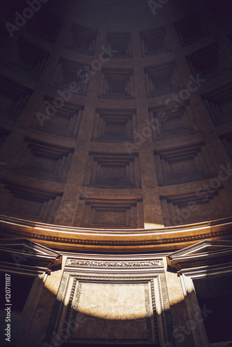 Spoed Foto op Canvas Rome Interior of Rome Agrippa Pantheon, Italy
