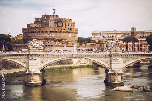 Foto op Aluminium Rome Rome - Castle saint Angelo, Italy