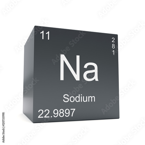 Sodium chemical element symbol from the periodic table displayed on sodium chemical element symbol from the periodic table displayed on black cube urtaz Image collections