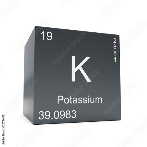 Potassium Chemical Element Symbol From The Periodic Table Displayed