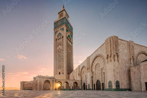 Casablanca mosque of Hassan 2 Fotobehang
