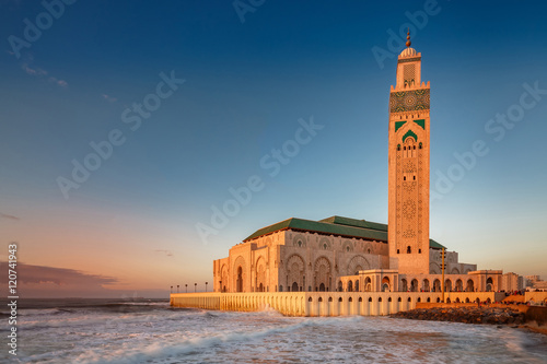 Photo sur Aluminium Maroc Casablanca mosque of Hassan 2