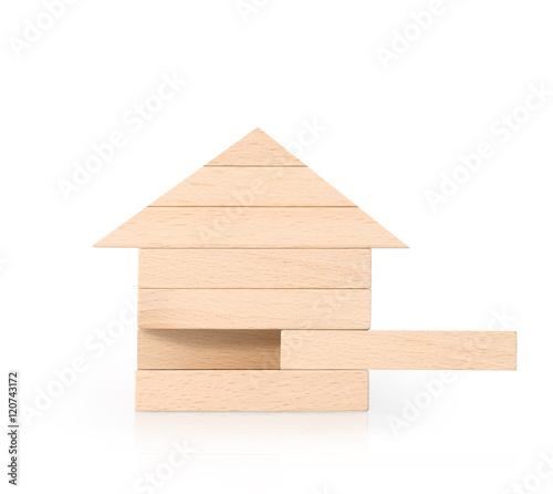 Fotografie, Obraz  Model house wood form of diagram