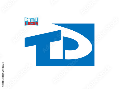 Td Initial Logo For Your Startup Venture Buy This Stock Vector And