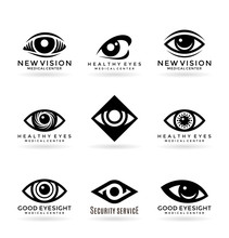 Set Of Vector Eye Symbols And Logo Design Elements (4)
