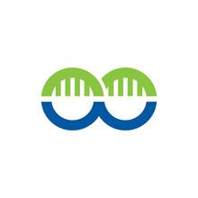 Simple Bridge Infinity Logo Image Vector Icon