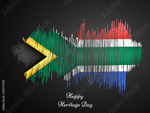 Illustration of South Africa Flag for Heritage Day
