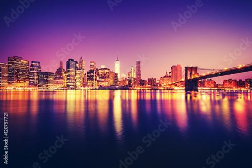 Keuken foto achterwand New York Purple Manhattan