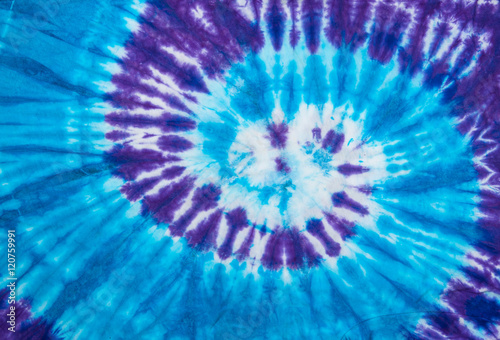Fotografie, Obraz  spiral tie dye design for background.