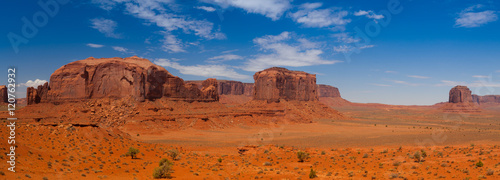 Panorama landscape - Iconic peaks of rock formations in the Nava