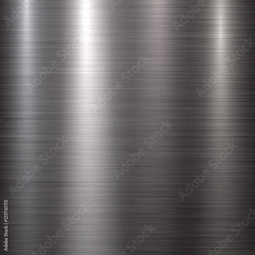 Fotografie, Obraz  Abstract technology background with polished, brushed metal texture, chrome, silver, steel, aluminum for design concepts, web, prints, posters, wallpapers, interfaces