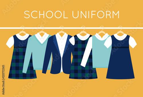 Fotografia School Uniform for Children and Teenagers on Hangers