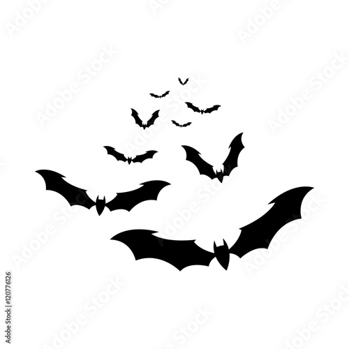 the bats vector Wallpaper Mural